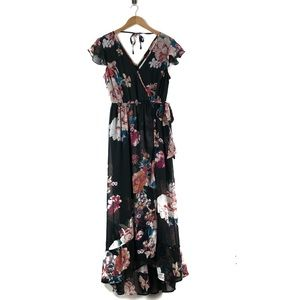 Band of Gypsies Floral Print Maxi Dress NWT